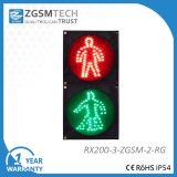 200mm uomo rosso-chiaro pedonale della camminata di verde dell'uomo di arresto del segnale stradale di 8 pollici