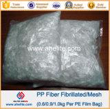 La fibra PP de la ingeniería fibriló la fibra para el concreto