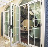 Дверь алюминиевого деревянного качания цены по прейскуранту завода-изготовителя французская с низким стеклом e