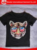 까만 형식에 의하여 인쇄되는 최신 도매 여름 아이들 t-셔츠