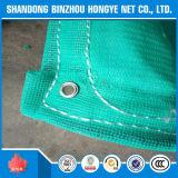 Red de seguridad de construcción de HDPE/PE con los huéspedes y los remaches
