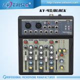 De professionele Mixer van 4 Kanaal met de Audio die van Mirophone van de Input USB de Reeks van de Console mengen