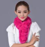 Fashion Real Rex Rabbit女性毛皮の冬のスカーフ(YKY4362)