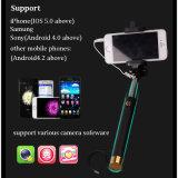 Palillo atado con alambre Monopod audio de Selfie Selfie del alambre del control del cable
