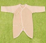 Romper longo do inverno da luva do bebê listrado orgânico do algodão