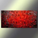 Art abstrait peint à la main de mur de toile de peinture à l'huile