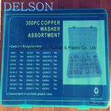 Variedade de cobre diferente da arruela do anel-O 30size 300PCS da espessura