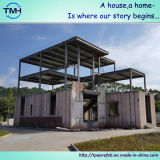 Casas pré-fabricadas luxuosas do projeto da construção de aço