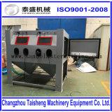 合金の車輪のための手動送風キャビネット/圧力サンドブラスティングの機械/吸引/