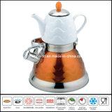 crisol doble del agua 3L+0.75L con la tetera de cerámica