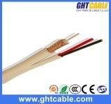 Samengestelde Siamese Coaxiale Kabel syv-75-3+2c