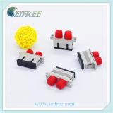 FC ao adaptador do duplex da única modalidade da fibra óptica do metal do LC