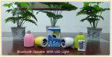 Drahtloser mini beweglicher Bluetooth Lautsprecher mit heller Lampe LED-7colors (ID6020)