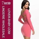 Vestido da cor-de-rosa do clube da mulher mini (L27947-1)