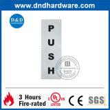 Ss304 type carré signe de poussée de plaque de signe