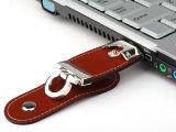 1/2/4/8/16/32/64/128GB привод вспышки USB кожи ключевого кольца USB 2.0 с изготовленный на заказ логосом