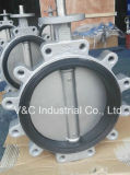 EPDM Seal Lug Type Butterfly Valve mit Manual Operation
