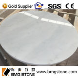 Bancada de mármore branca italiana feita sob encomenda da parte superior da mesa redonda de Carrara