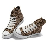 Cheap PricesのローカットのComfortableブラウンLeopard Canvas Shoes