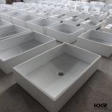 鋳造物の石造りの樹脂の固体表面のキャビネットの浴室の洗面器
