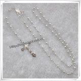 Collane di legno trasversali all'ingrosso del rosario del Jesus (IO-cr242)