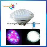 luz de la piscina de 12V IP68 18W LED PAR56, luz subacuática
