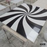 Tableau extérieur solide de bureau moderne de marbre artificiel à extrémité élevé