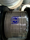 Câble métallique d'acier inoxydable 7X7-1.5, 2.5, 3, 3.2mm