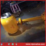 Польностью сваренный шариковый клапан Trunnion Bw