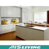 Mobília do gabinete de cozinha do revestimento do PVC Matt da laca (AIS-K084)