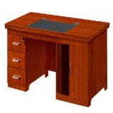 Mesa de madeira certificada Fsc do computador pequeno de escritório Home do folheado do projeto moderno (HY-NO6)