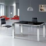 Таблица роскошной серебряной нержавеющей стали картины обедая обедая мебель