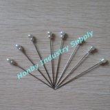 Weißer doppelter Brennkolbenplastikhauptgerader Stahlpin der Farben-55mm