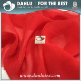Chinesisches rotes Wholesaling und im Einzelhandel verkaufendes Chiffon- Gewebe für Frauen-Kleid