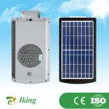 5W integrou tudo em uma luz de rua solar das luzes solares solares claras automáticas ao ar livre da lâmpada da luz de rua do diodo emissor de luz do diodo emissor de luz