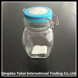 tarro de cristal del almacenaje 100ml con la tapa de cerámica