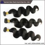 Armadura del pelo humano de la extensión el 100% del pelo humano de la onda de la carrocería
