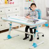 金属青い学生の高さの調節可能な学習の机