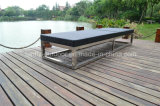 Summer Beach Alumínio Outdoor Rattan Sun Lounger