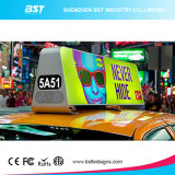 Le meilleur Afficheur LED extérieur de taxi d'intense luminosité de la qualité P5 pour la publicité visuelle