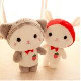 Bebê branco encantador macio brinquedo animal enchido do unicórnio com luxuoso longo
