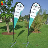 Poliéster 100% Advertizing Drop Banner Flag com Flagpole Stand