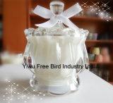 Bougie parfumée de soja de nature sans fumée promotionnelle avec la bande colorée