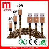 Mikro-USB-Kabel Hochgeschwindigkeits-USB 2.0 ein Mann zu Mikrob-Synchronisierung und zu aufladenkabel