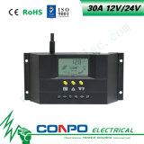 30A、12V/24VのLCDのスマートな太陽コントローラ