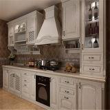 Gabinete de cocina de madera de encargo de la chapa de Matt