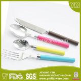 الصين TOP10 جودة الفولاذ المقاوم للصدأ مجموعة أدوات المائدة مع مقبض بلاستيكي