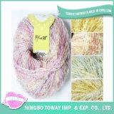 Knitting Mão colorido tingido lã acrílica Fancy fios
