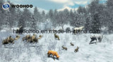 Campo da giuoco dell'interno la macchina del gioco della fucilazione di alleanza del cacciatore (giocatore quattro)