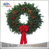[س] عيد ميلاد المسيح إكليل عيد ميلاد المسيح يعلق حلية بالجملة عيد ميلاد المسيح زخارف خفيفة إكليل ضوء